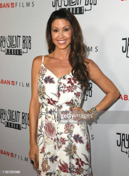 Shannon Elizabeth arrives at the premiere of Saban Films' Jay Silent Bob Reboot at TCL Chinese Theatre on October 14 2019 in Hollywood California