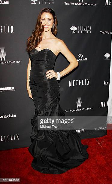 Shannon Elizabeth arrives at The Weinstein Company and NetFlix 2014 Golden Globe Awards after party held on January 12 2014 in Beverly Hills...