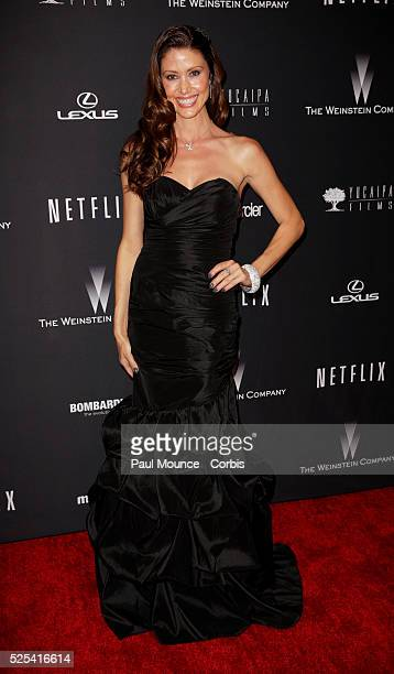 Shannon Elizabeth arrives at the Weinstein Company Golden Globes AfterParty