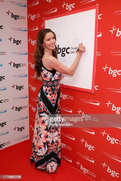 Shannon Elizabeth attends Annual Charity Day Hosted By Cantor Fitzgerald BGC and GFI BGC Office Arrivals on September 11 2019 in New York City