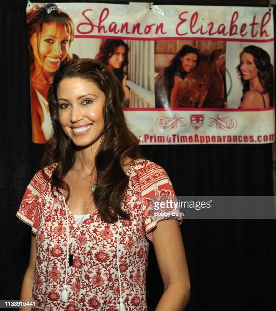 Shannon Elizabeth attends the 2019 New Jersey Horror Con And Film Festival at Showboat Atlantic City on March 30 2019 in Atlantic City New Jersey