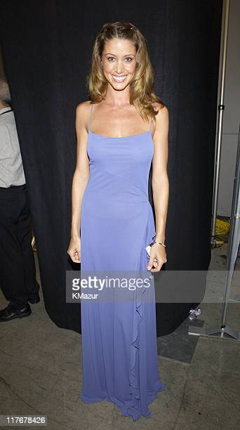 Shannon Elizabeth during 2002 ESPY Awards Backstage at The Kodak Theater in Hollywood California United States