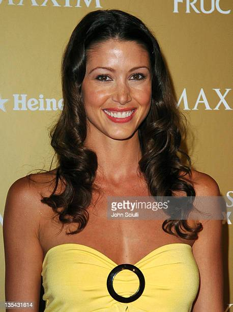 Shannon Elizabeth during Maxim Magazine Hot 100 Party in Celebration of the Grand Opening of Body English In the Hard Rock Hotel Casino Red Carpet at...
