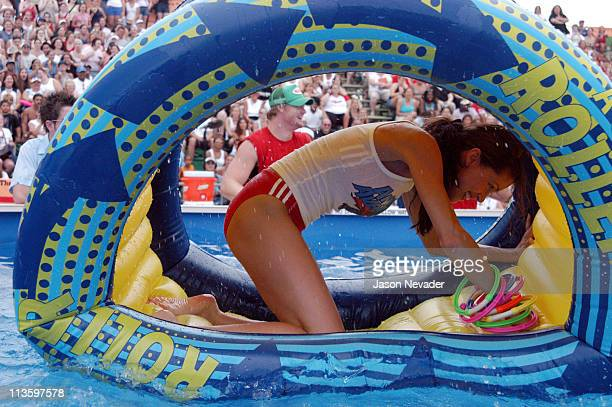 Shannon Elizabeth during *NSYNC's Challenge for the Children V Celebrity Skills Challenge at Collins Park in Miami Beach Florida United States