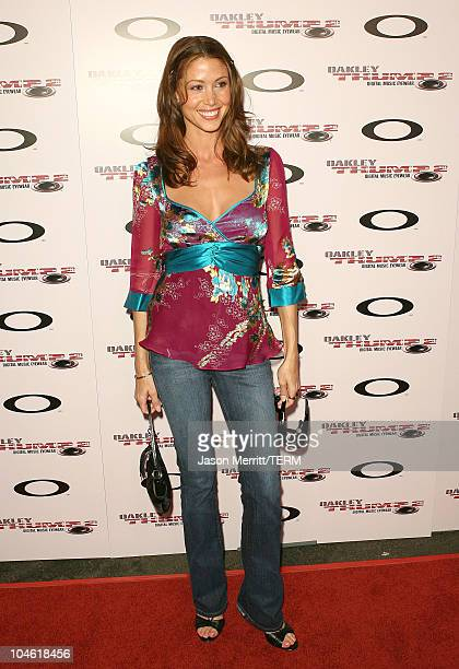 Shannon Elizabeth during Oakley THUMP 2 Launch Party October 12 2005 at Montmatre Lounge in Hollywood California United States