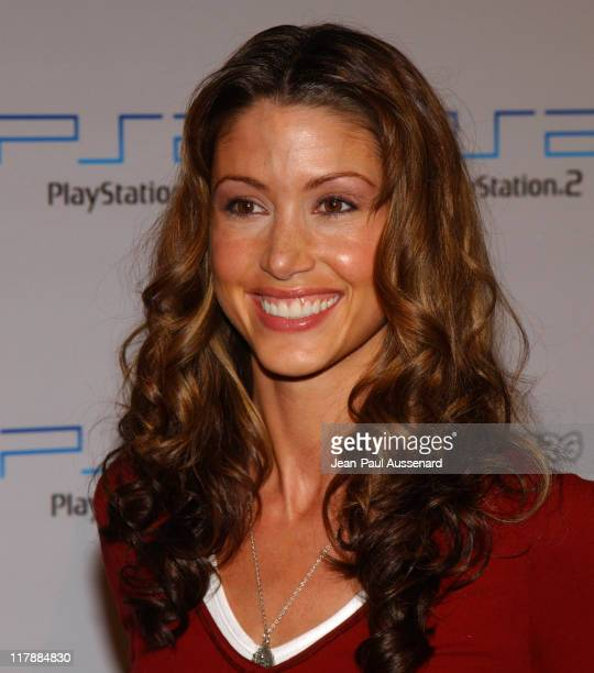Shannon Elizabeth during Play Station 2 and Mark Wahlberg Host Celebrity Gaming Tournament for Charity Arrivals at Club Ivar in Hollywood California...