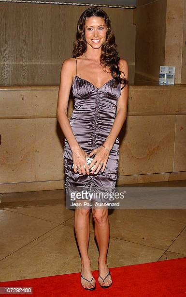 Shannon Elizabeth during The 18th Annual Genesis Awards and 50th Anniversary of the Humane Society of the United States Arrivals at Beverly Hilton in...