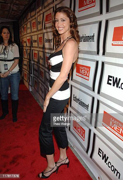 Shannon Elizabeth during The Entertainment Weekly/Matrix Men Upfront Party Roaming and Arrivals at The Manor in New York City New York United States