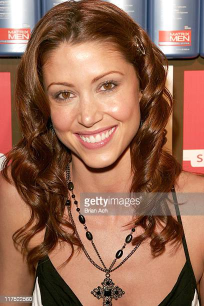 Shannon Elizabeth during The Matrix Men Upfronts Styling Station for the Fresh Air Fund at The Manor in New York City New York United States