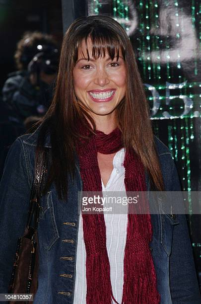Shannon Elizabeth during 'The Matrix Reloaded' Premiere Arrivals at The Mann Village Theater in Westwood California United States