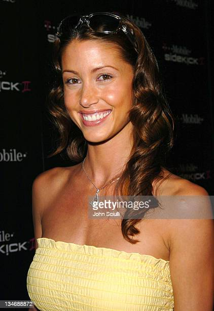 Shannon Elizabeth during TMobile Sidekick II Launch Party Red Carpet at The Grove in Los Angeles California United States