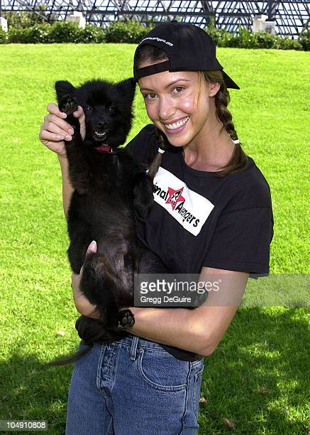 Shannon Elizabeth Inky during Best Friends Animal Sanctuary's 5th Pet Adoption Festival at Page Museum's La Brea Tar Pits in Los Angeles California...