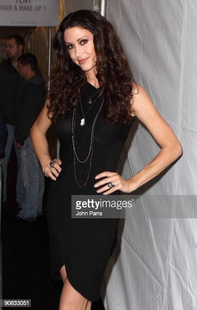Shannon Elizabeth is seen around Bryant Park during day 2 of MercedesBenz Fashion Week on September 11 2009 in New York City