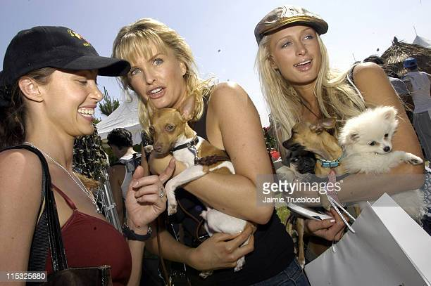 Shannon Elizabeth, Kylie Bax and Paris Hilton during Cabana Pre-MTV Movie Awards Beauty Buffet - Day Two at Private Residence in Hollywood,...