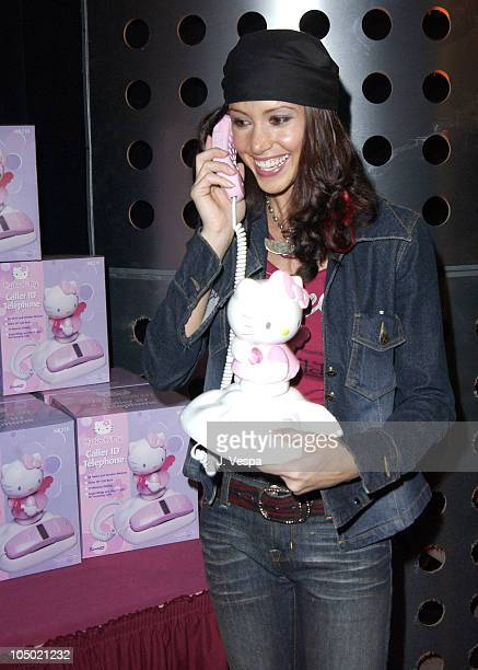 Shannon Elizabeth with Hello Kitty phone during 2002 Billboard Music Awards Backstage Creations Talent Retreat Show Day at MGM Grand Hotel in Las...