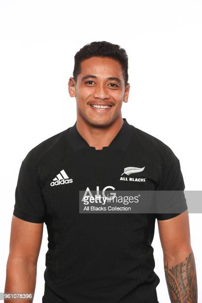 Shannon Frizell poses during a New Zealand All Blacks headshots session on May 21 2018 in Auckland New Zealand