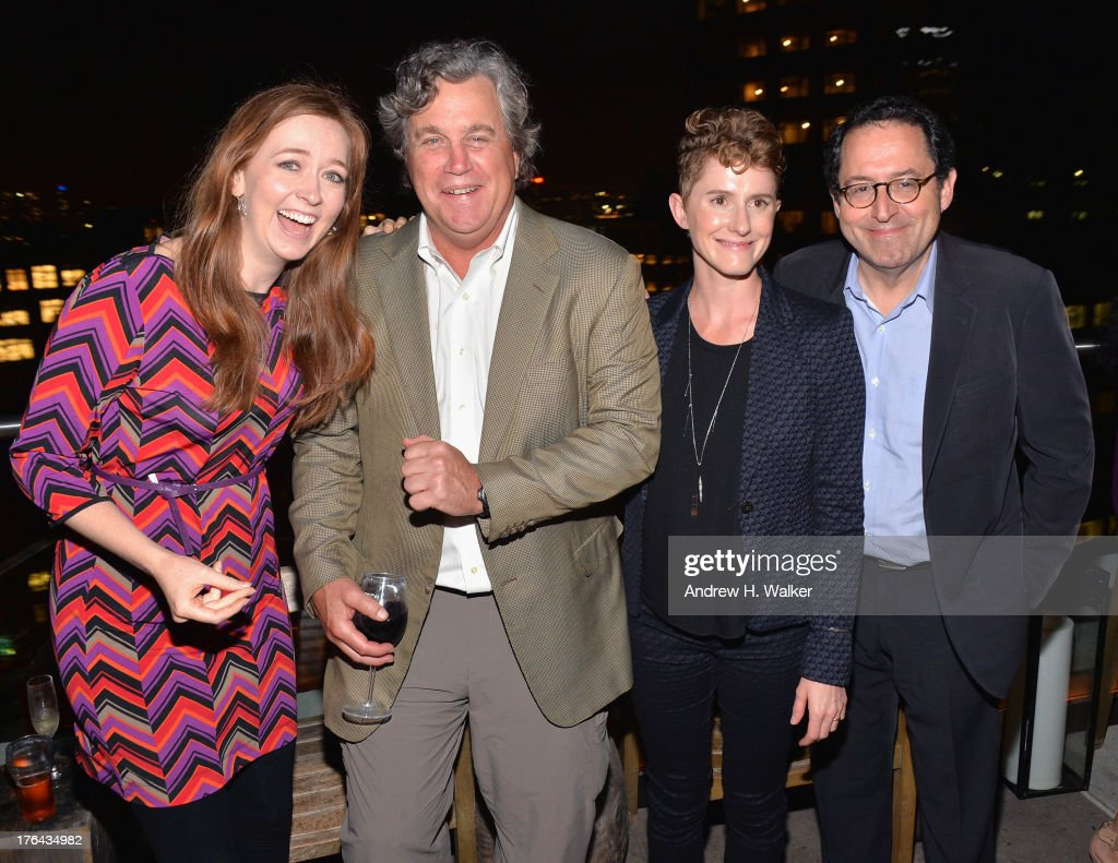 Shannon Hale, Tom Bernard, Jerusha Hess, and Michael Barker attend the after party for The Cinema Society with Alice and Olivia screening of Sony Pictures Classics' 'Austenland' at Jimmy At The James Hotel on August 12, 2013 in New York City.