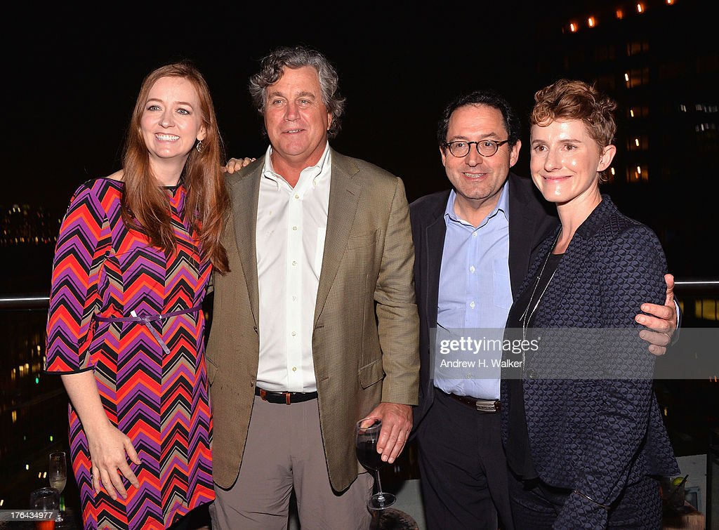 Shannon Hale, Tom Bernard, Michael Barker, and Jerusha Hess attend the after party for The Cinema Society with Alice and Olivia screening of Sony Pictures Classics' 'Austenland' at Jimmy At The James Hotel on August 12, 2013 in New York City.