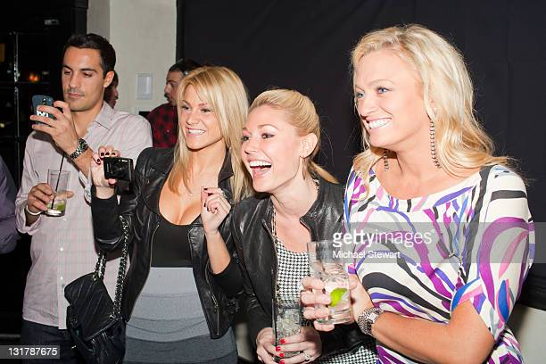 Shannon James, Kelly Carrington and Laurie Fetter attend Lindsey Vuolo's birthday party at The Windsor on October 23, 2010 in New York City.