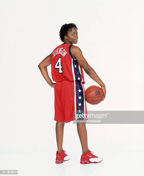 Shannon Johnson of Team USA poses for the 2004 Women's Team USA Portraits on March 23 2004 in Miami Florida NOTE TO USER User expressly acknowledges...