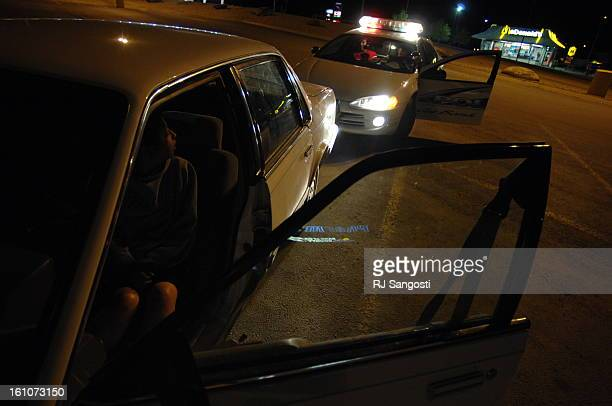 BROWNING MONTANA Shannon Lamott looks back at the patrol car after being pulled over in her mom's vehicle Lamott and her friends had been drinking...