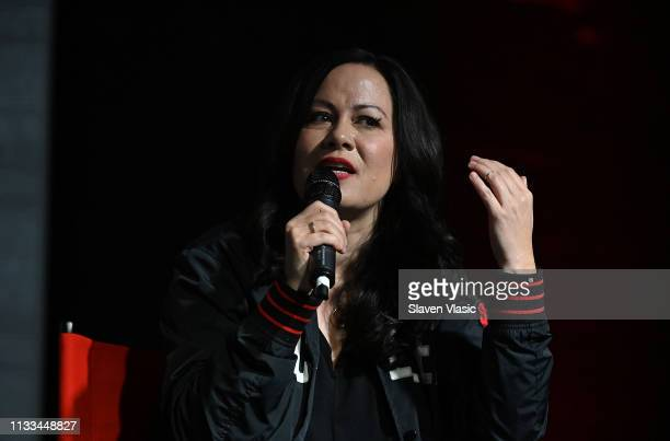 Shannon Lee a daughter of late martial arts film star Bruce Lee attends Cinemax Warrior event on March 28 2019 in New York City