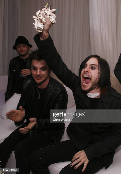 Shannon Leto and Jared Leto during Jared Leto's Surprise Birthday Party at PURE Nightclub at Pure Nightclub in Las Vegas Nevada United States