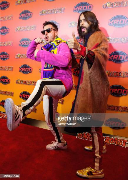 Shannon Leto and Jared Leto of Thirty Seconds to Mars attend at StubHub Center on May 12 2018 in Carson California