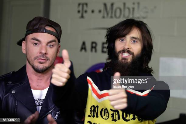 Shannon Leto and Jared Leto of Thirty Seconds to Mars attend the 2017 iHeartRadio Music Festival at TMobile Arena on September 22 2017 in Las Vegas...
