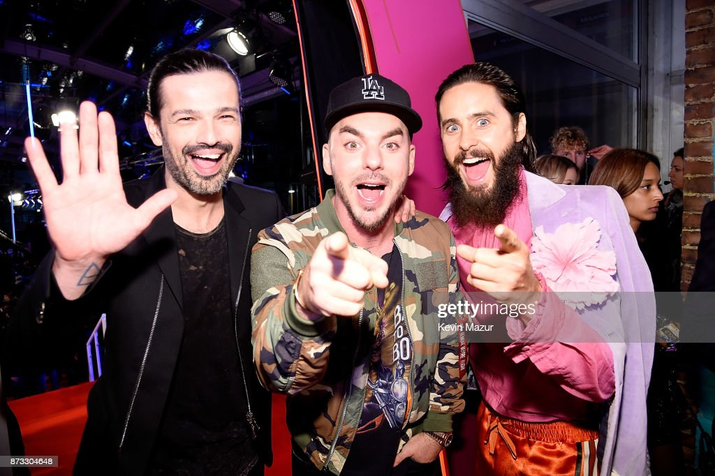 Shannon Leto and Jared Leto of Thirty Seconds to Mars attend the MTV EMAs 2017 held at The SSE Arena, Wembley on November 12, 2017 in London, England.