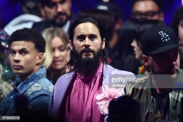 Shannon Leto and Jared Leto of Thirty Seconds to Mars attend the MTV EMAs 2017 held at The SSE Arena Wembley on November 12 2017 in London England