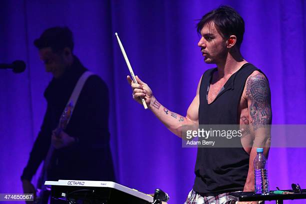 Shannon Leto of Thirty Seconds To Mars performs during a concert at the Apple store on February 24, 2014 in Berlin, Germany.