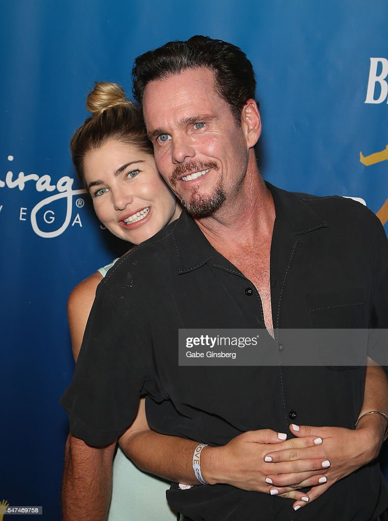 Shannon Lewis (L) and actor Kevin Dillon attend the 10th anniversary celebration of 'The Beatles LOVE by Cirque du Soleil' at The Mirage Hotel & Casino on July 14, 2016 in Las Vegas, Nevada.