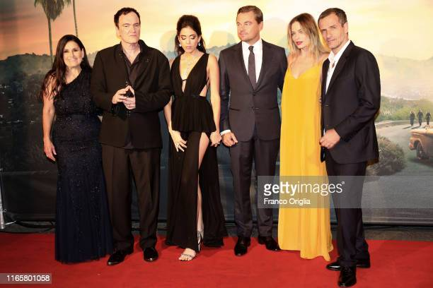 Shannon Macintosh Quentin Tarantino Daniela Pick Leonardo DiCaprio Margot Robbie and David Heyman attend the premiere of the movie Once Upon a time...