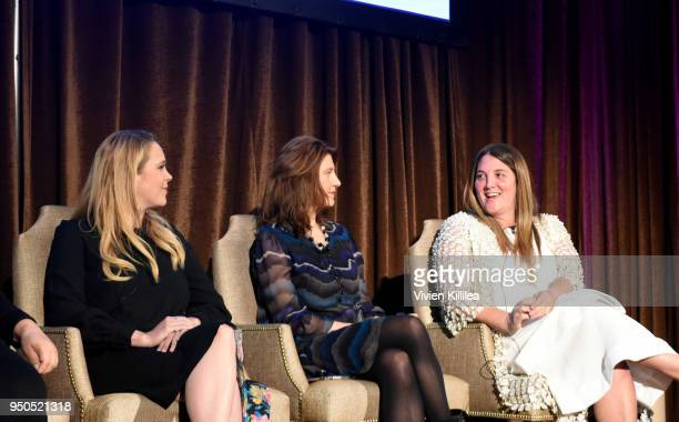 Shannon Mattingly Nathanson Cara Kleinhaut and Alison Brettschneider speak at Visionary Women Presents The New Normal How Social Media is Reshaping...