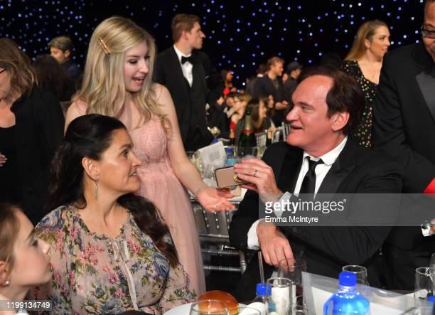 Shannon McIntosh and Quentin Tarantino attend the 25th Annual Critics' Choice Awards at Barker Hangar on January 12, 2020 in Santa Monica, California.
