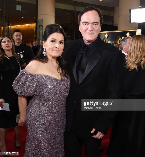 Shannon McIntosh and Quentin Tarantino attend the 77th Annual Golden Globe Awards at The Beverly Hilton Hotel on January 05 2020 in Beverly Hills...