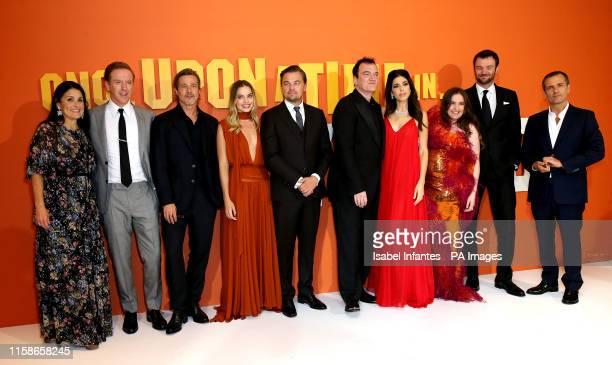 Shannon McIntosh Damian Lewis Brad Pitt Margot Robbie Leonardo DiCaprio Quentin Tarantino Daniella Pick Lena Dunham Costa Ronin and David Heyman...