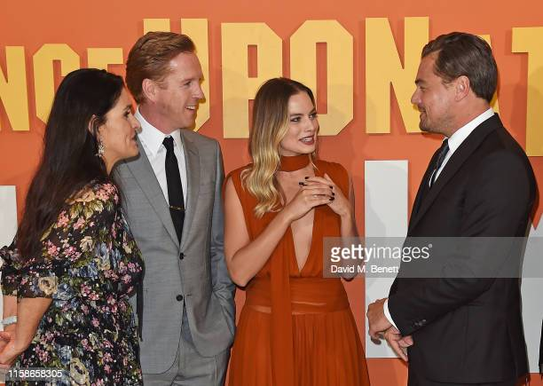 Shannon McIntosh Damian Lewis Margot Robbie and Leonardo DiCaprio attend the UK Premiere of Once Upon a TimeIn Hollywood at the Odeon Luxe Leicester...