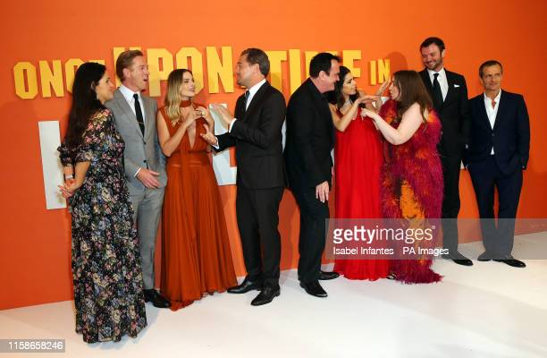 Shannon McIntosh Damian Lewis Margot Robbie Leonardo DiCaprio Quentin Tarantino Daniella Pick Lena Dunham Costa Ronin and David Heyman attending the...