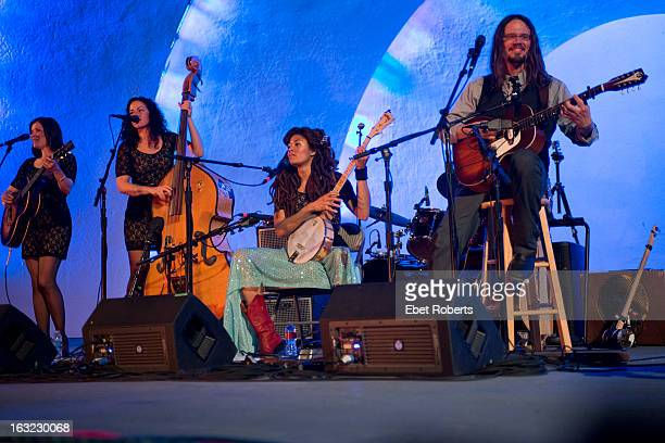Shannon McNally Amy LaVere Valerie June and Luther Dickinson of The Wandering perform at the Levitt Shell in Overton Park in Memphis Tennessee on...