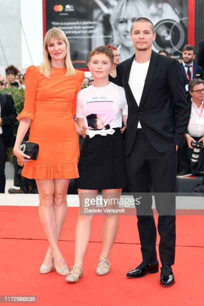 Shannon Murphy Eliza Scanlen and Toby Wallace of Babyteeth walk the red carpet ahead of the closing ceremony of the 76th Venice Film Festival at Sala...