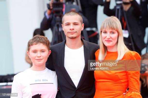 Shannon Murphy Eliza Scanlen and Toby Wallace walk the red carpet ahead of the closing ceremony of the 76th Venice Film Festival at Sala Grande on...