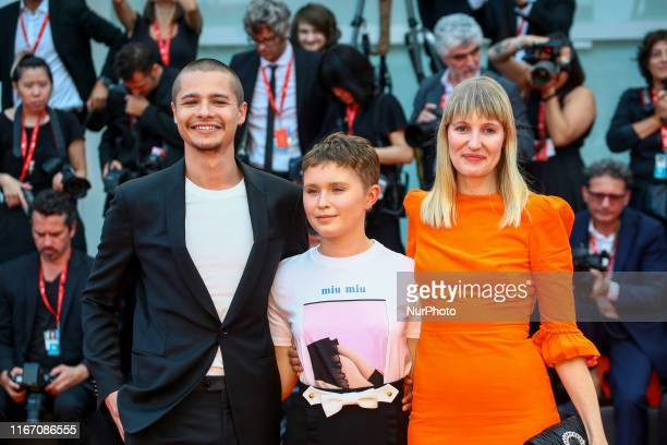Shannon Murphy Eliza Scanlen and Toby Wallace walks the red carpet ahead of the closing ceremony of the 76th Venice Film Festival at Sala Grande on...