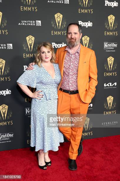 Shannon Nelson and Brendan Hunt attend the Television Academy's Reception to Honor 73rd Emmy Award Nominees at Television Academy on September 17,...