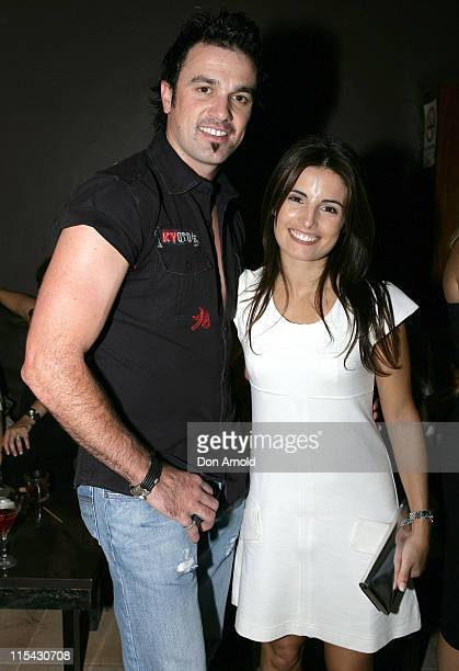 Shannon Noll and Ada Nicodemou during Sapphire Suite Anniversary Party in Sydney at Sapphire Suite Kings Cross in Sydney Australia