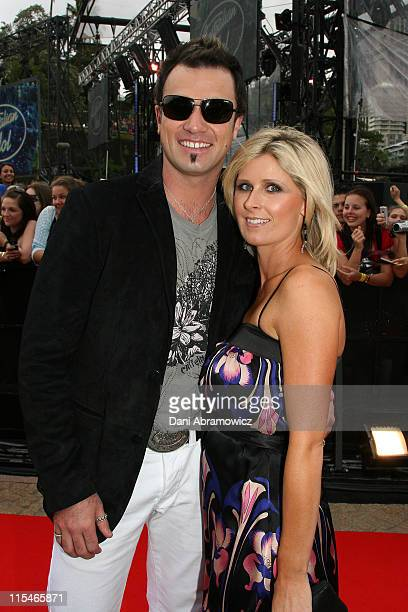 Shannon Noll and Wife during ''Australian Idol'' Grand Final November 26 2006 at Sydney Opera House in Sydney NSW Australia
