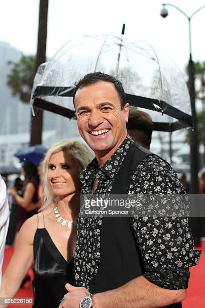 Shannon Noll arrives for the 30th Annual ARIA Awards 2016 at The Star on November 23 2016 in Sydney Australia