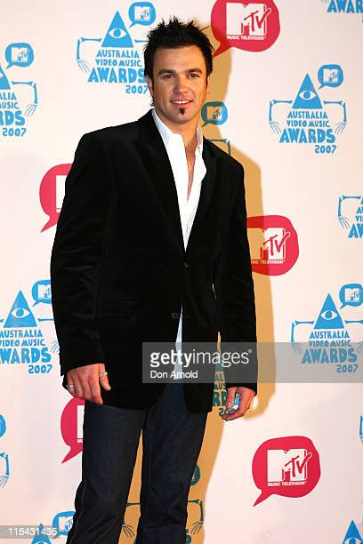 Shannon Noll during MTV Australia Video Music Awards 2007 Arrivals at Superdome in Sydney NSW Australia