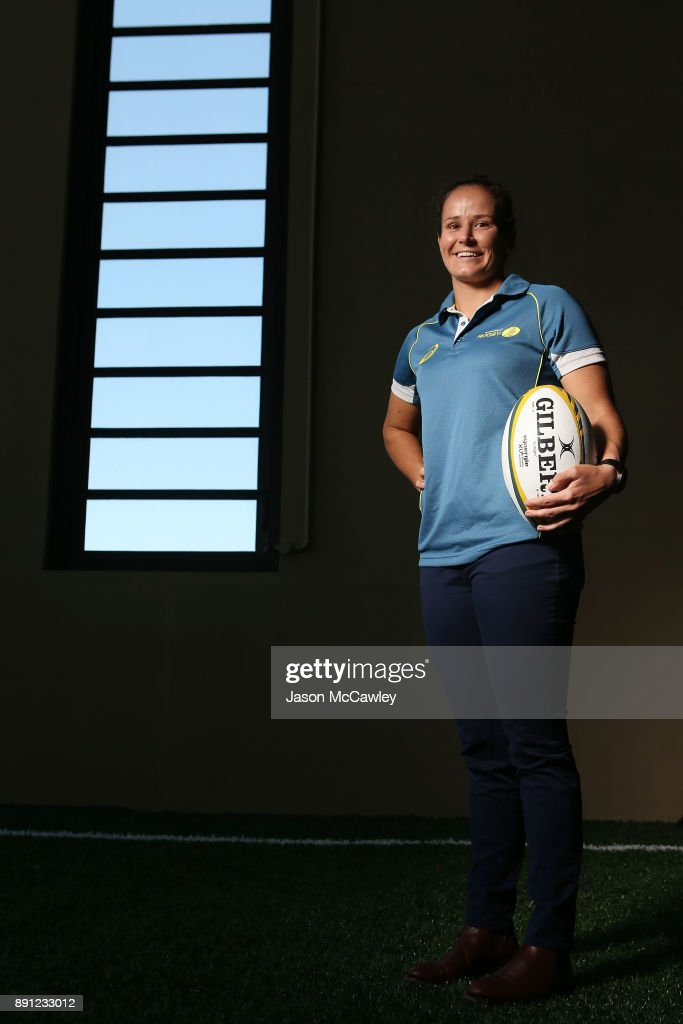 Shannon Parry of the Wallaroos poses after a Rugby Australia press conference at the Rugby Australia Building on December 13, 2017 in Sydney, Australia.